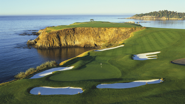 golf course overlooking water