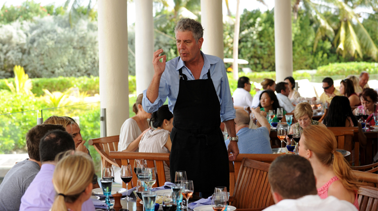 Anthony Bourdain at the Cayman Cookout