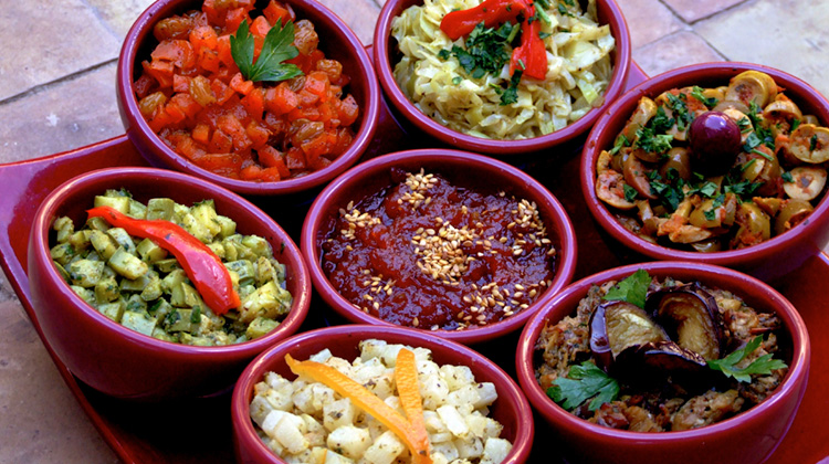 colorful spices from La Maison Arabe Cooking School