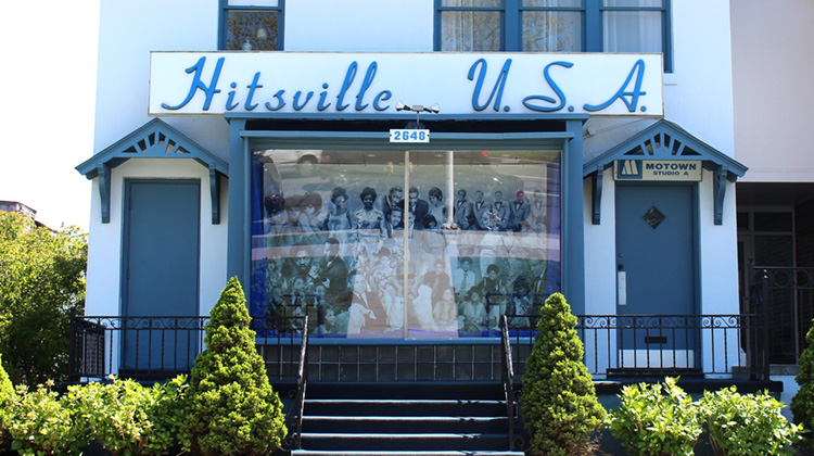 exterior of the Hitsville USA studio in Detroit