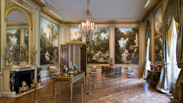 The Fragonard Room in the Frick Collection