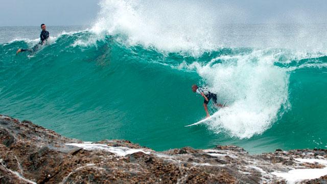 Surfers in Gold Coast, Australia