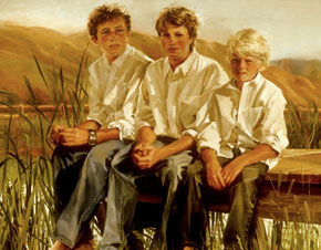 A portrait of three boys by Welty.