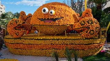 Fete du Citron parade float