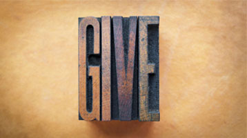 sign that says Give
