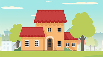 Home size and cost illustration