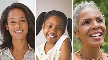 Grandmother, daughter, and granddaughter